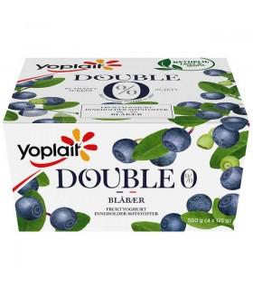 Yoplait Double Blåbær 4x125g