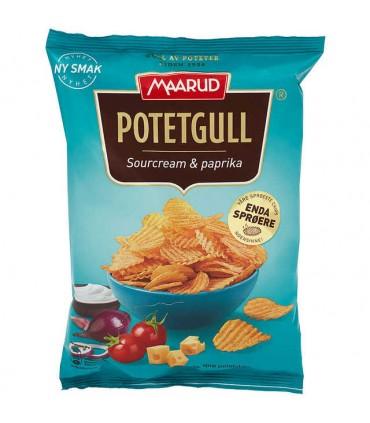 Potetgull Sourcream&Paprika 200g Maarud