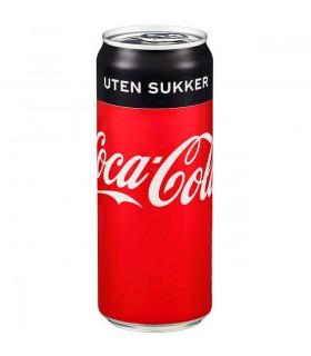 Coca-Cola u/Sukker 0,33l boks Sleek