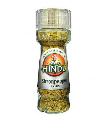 Sitronpepper m/Kvern 55g glass Hindu